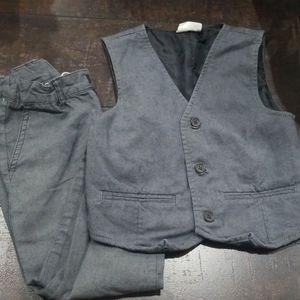Crazy 8 2pc vest trousers suit herringbone 5 6